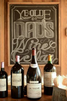 decoration detail - country chic - wine - chalkboard art