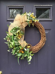 Butterfly wreath  Yellow, spring, summer