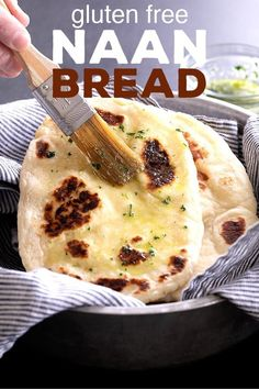 This gluten free naan bread is made extra soft and tender with yogurt eggs and a bit of butter or ghee in the dough. Make the dough ahead of time and then fry it up in a pan in minutes! - April 28 2019 at Sin Gluten, Gluten Free Diet, Gluten Free Cookies, Gluten Free Baking, Gluten Free Desserts, Gluten Free Artisan Bread, Dairy Free, Lactose Free, Yeast Bread Recipes