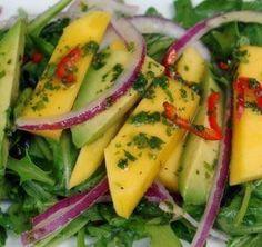 Ensalada de Mango, Aguacate y Rúgula   i24Web