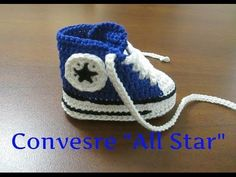 "Tutorial Uncinetto - Scarpine bebe' - Converse ""All Star"" II Parte #1# - YouTube"