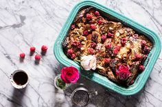 Raspberry Rose Baked French Toast by Half Baked Harvest