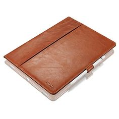 "KAVAJ iPad Pro leather case cover ""London"" cognac brown - genuine leather with stand-up feature. Thin Smart Cover as premium accessory for the original Apple iPad Pro"