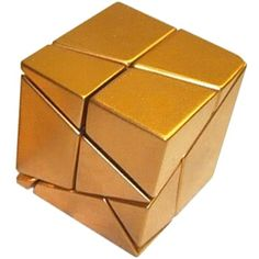 Golden Cube by Tony Fisher Rubiks Cube Algorithms, Figet Toys, Cool Cube, Logic Puzzles, Cube Puzzle, Game Theory, Paper Crafts, Diy Crafts, Brain Games