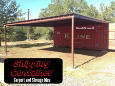 Elegant shipping container idea carport and storage i save z com hero roof home shed shop workshop shelving garage Shipping Container Workshop, Shipping Container Storage, Shipping Container Buildings, Storage Container Homes, Shipping Containers, Shipping Crates, Container Home Designs, Container Shop, Cargo Container