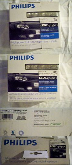 Motors Parts And Accessories: Philips Led Daylight 4 12V Daytime Running Lights (X2) Pair BUY IT NOW ONLY: $60.0
