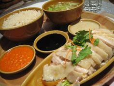 Heavenly Rice Recipe 30 Singapore Chicken Rice With Condiments Heavenly Rice Singapore Chicken Rice, Hainan Chicken Rice, Steamed Chicken, Boiled Chicken, Roasted Chicken, Capon Recipe, Comfort Food List, Hainanese Chicken, Hainanese Rice