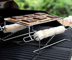 Take your favorite flame cooked desert from the open flame to the comfort of your home's grill with the s'mores roasting rack. This ultra practical stainless...