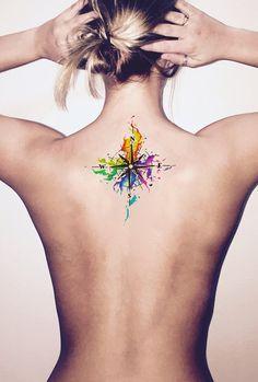 Rainbow Watercolor Compass Back Shoulder Tattoo Ideas for .- Regenbogen Aquarell Kompass Rücken Schulter Tattoo Ideen für Frauen – Arco Iris …, Rainbow Watercolor Compass Back Shoulder Tattoo Ideas for Women – Arco Iris …, - Trendy Tattoos, Sexy Tattoos, Unique Tattoos, Body Art Tattoos, Small Tattoos, Sleeve Tattoos, Tatoos, Gay Pride Tattoos, Small Colorful Tattoos