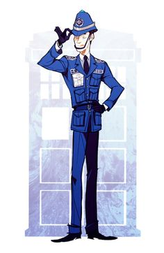 i love TARDIS dresses a lot and here's a male version  and well, she's a police box..!