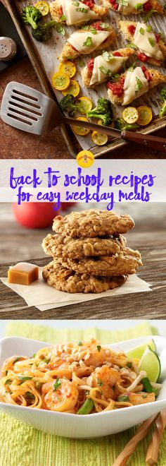 The end of summer means it's time to get back into the school-day rhythm. These recipes will get your family through the day, from hearty breakfasts and quick, easy lunches to dinners your kids will love.