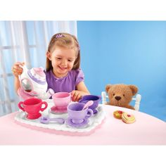 Fisher-Price Magical Tea for Two, Kids Kitchen Toys, Fun Play Tea Set.  I bought this for Lex.  It's adorable and she plays with it all the time.