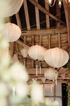 Hanging lanterns decor