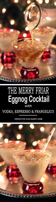 Looking for a holiday cocktail that will spruce up your eggnog? The Merry Friar Eggnog Cocktail with Vodka & Frangelico will do just that with a hint of Espresso thrown into the mix too! via @creativculinary