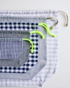 Easy Drawstring Bag by the Purl Bee
