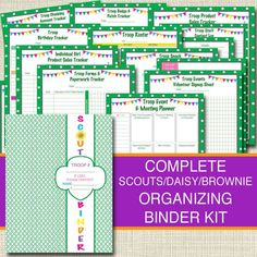 Girl Scouts Organizing Binder Kit, INSTANT DOWNLOAD Troop Leader Forms, Girl Scouts Meeting Planner, Brownies, Daisies Girl Scout Printables