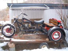 Sweet and Simple. Vw Trike, Trike Motorcycle, Custom Trikes, Custom Harleys, Harley Davidson Trike, Bike Trailer, Fat Bike, Vw Cars, Lady Biker