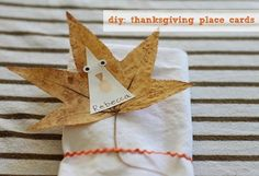 Fall Leaf Place Cards for Thanksgiving