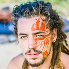 Face Tattoos for Men Ideas and Designs for Guys Hello! Here we have great wallpaper about face tattoo designs for men. We hope these photos. Face Tattoos For Men, Tattoos For Guys, Pintura Facial Neon, Tattoo Gesicht, Tribal Face Paints, Tribal Body Paint, Make Carnaval, Tribal Makeup, Text Tattoo