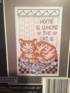 Stoney Creek Notable Quotables Home is Where the Cat Is Counted Cross Stitch Kit #StoneyCreek #CrossStitchKit