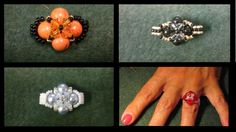 Beading4perfectionists : Very basic beginners ring with Swarovski beads ...