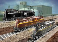 Pennsylvania, Penn Central GG-1 Engines...I love these trains... Lionel Trains Layout, Third Rail, Electric Train Sets, Hobby Trains, Train Times, Train Pictures, Train Engines, Rolling Stock, Model Train Layouts