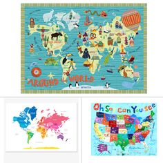 5 cool world maps to show kids the world!