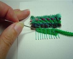 I love making these - handwoven greeting cards.  Diane shows us how!