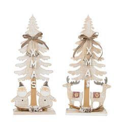 Árbol Navidad decoración sobremesa madera