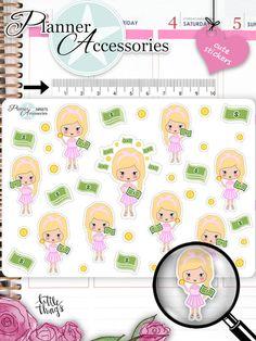Sticker - Geburtstag Sticker Girl Sticker NR875 - ein Designerstück von PlannerAccessories bei DaWanda