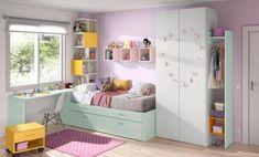 Soluciones para dormitorios juveniles pequeños. Dormitorio juvenil para chica. Chroma de Kibuc