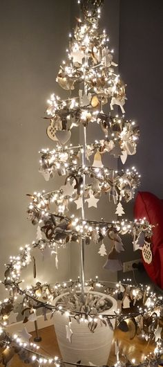 Tuinfee spiraal kerstboom