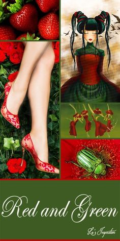 Thank you for all the wonderful black and silver pins. You found some great ones. Tonight and tomorrow lets do this mood board of red and green. Thank you and Happy Pinning ❤