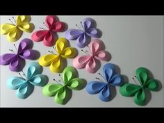 We all love handmade items that create impressions. We all love handmade items that create impressions. Paper Butterfly Crafts, Cool Paper Crafts, Origami Butterfly, Paper Crafts Origami, Cute Butterfly, Paper Flower Wall, Paper Butterflies, Origami Flowers, Beautiful Butterflies