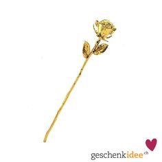 Kein Wort, keine andere Geste wirkt so nachhaltig wie diese echte, vergoldete Rose. Ein Geschenk der Extraklasse, das garantiert jede Frau zum Schmelzen bringt.