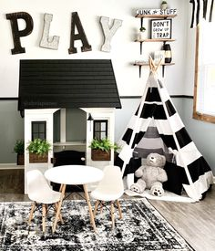 Nice 36 Ideas Boy's Playroom Decoration Boy's playrooms are great places to keep clutter and toys contained and provide a fun and entertaining place for your children to stay. Your child could spend h. Modern Playroom, Playroom Design, Playroom Decor, Kids Decor, Playroom Ideas, White Kids Room, Cool Kids Rooms, Room Kids, Playroom Furniture