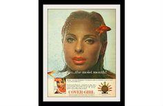 COVER GIRL Lipstick Goldfish Ad, Vintage Advertising Wall Decor Art Print