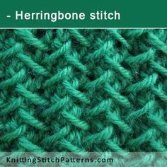 Herringbone stitch | Step-by-step Tutorial. Free Knitting Pattern includes written instructions and video tutorial.