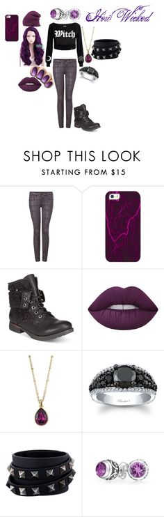 """""""How Wicked~ A Modern Witch Theme"""" by kyouya on Polyvore featuring Dex, Casetify, ZiGiny, Lime Crime, 2028, Valentino, Bling Jewelry, Spacecraft and modern"""