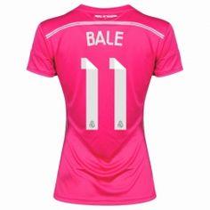 High Quality 2014-15 Real Madrid Gareth Bale 11 Women's Away Soccer Jersey Shirt - Pink