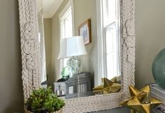 How to Use Ropes and Knots to Turn a Plain Mirror Into an Ornate Piece