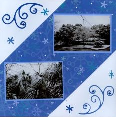 winter snow scrapbook layouts - Google Search More