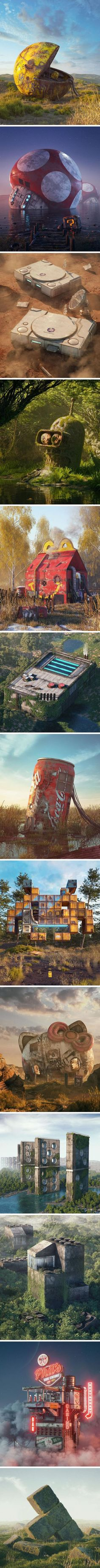Pop Culture Apocalypse In Amazing Digital Art By Filip Hodas Popkultur-Apokalypse in der erstaunlichen digitalen Kunst durch Filip Hodas Geek Culture, Culture Pop, Arte Pop, Amazing Art, Fantasy Art, Cool Pictures, Concept Art, Cool Art, Art Drawings