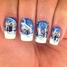 winter by ra_dina #nail #nails #nailart