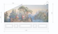 Sketch of mural in dining-room