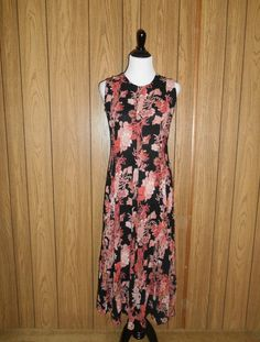 Vintage long floral dress 1990s 90s grunge womens women clothing clothes