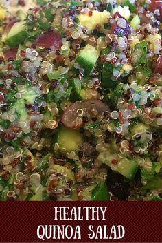 salad, I used tri-colored quinoa, avocado, mint, cucumber and lime ...