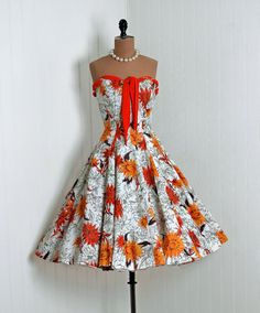 bright and gorgeous floral rockabilly dress