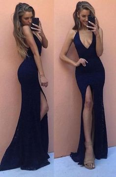 Beautiful Prom Dresses,New Arrival Sexy Prom Dress,V Neck Backless Split Side Evening Dress,Sleeveless Mermaid Prom Dresses,Party Gown #eveningdresses