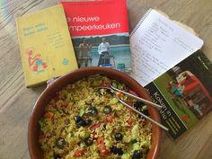 Over (h)eerlijk koken.: camping koken De alles is mogelijk rijstsalade